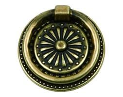 Kołatka meblowa patyna na mosiądzu KR13-G0005-SU Gamet
