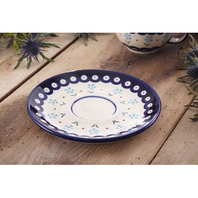 Ceramiczny talerzyk / Spodek GU-836 DEK. 168A Boles�awiec 16 cm -- kremowy - rabat 10 z� na pierwsze zakupy!