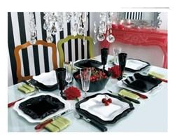 Serwis obiadowy biało-czarny Authentic 19 elem.