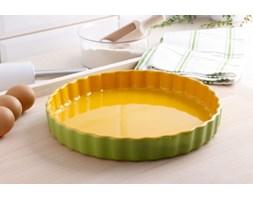 Naczynie ceramiczne do tarty KUCHENPROFI GREEN AND YELLOW 28 cm -- zielony żółty