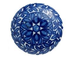 Uchwyt ceramiczny niebiesko-biały śr. 4,5 cm
