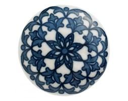 Uchwyt ceramiczny niebiesko-biały śr. 3,5 cm