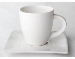Serwis kawowy DUO WHITE na 6 osób (12 el.) -- biały - rabat 10 zł na pierwsze zakupy!