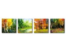 Obraz na płótnie OML076_41 - Krajobraz z kolorowymi drzewami