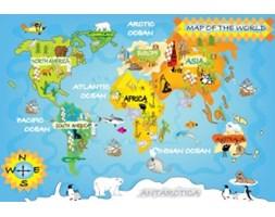 Fototapeta F4120 - Mapa świata dla dzieci