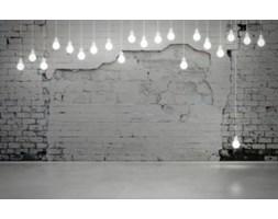 Fototapeta F4481 - Stary ceglany mur i żarówki
