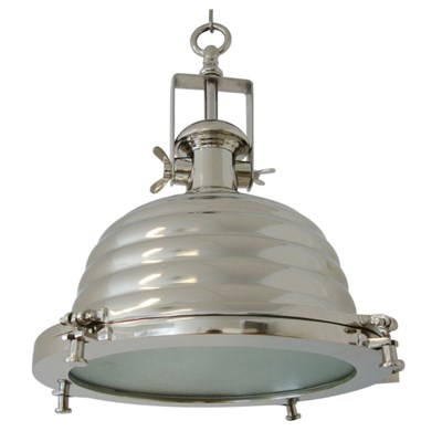 Light & Living Nyborg Lampa Wisząca Niklowana 41cm - 3016019