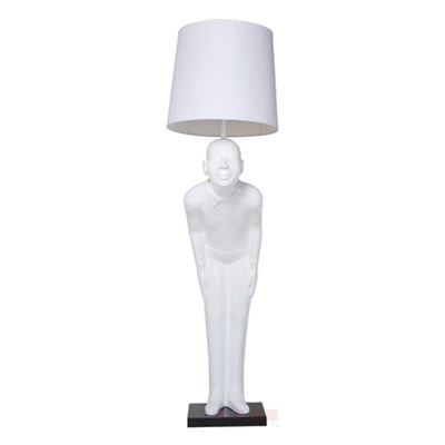 Kare Design Lampa Stojąca Welcome Guest Biały - 31007