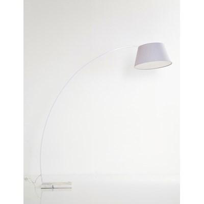 Kare Design Curvo Lampa Stojąca Biała Stal 200 cm - 32920