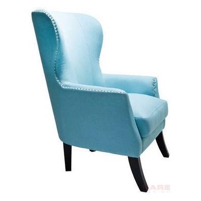 Kare Design Vegas Fotel Niebieski Tkanina 112x79x88cm - 76340