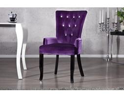 IiNTERIOR Barocco Krzesło z Podłokietnikami Fioletowe Tkanina - i12883