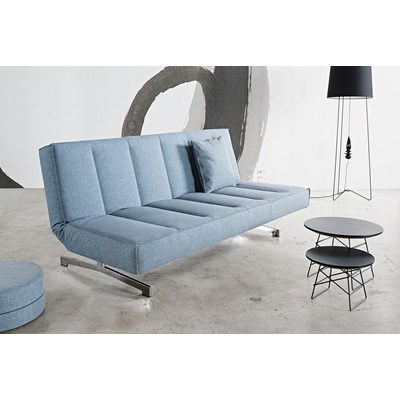 Innovation Istyle ODIN CHROM, Sofa Rozkładana, niebieska tkanina 525, nogi chromowane - 741004525chrom
