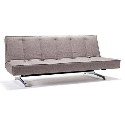 Innovation Istyle ODIN CHROM, Sofa Rozkładana, szara tkanina 521, nogi chromowane - 741004521chrom