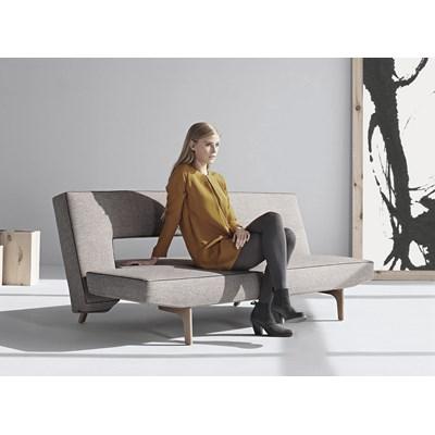 Innovation Istyle Puzzle Wood Sofa Rozkładana, szara tkanina 521, nogi drewniane - 772025521-5
