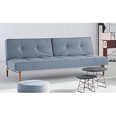 Innovation Istyle Splitback Sofa Rozkładana, jasno niebieska tkanina 525, nogi do wyboru - 741010525