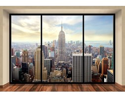 Manhattan, New York window - fototapeta