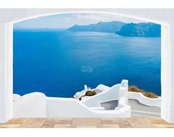 Wyspa Santorini, Grecja okno - fototapeta