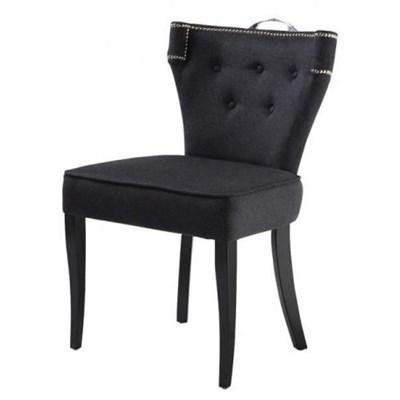 EICHHOLTZ Key West Krzesło Szare Kaszmir Tkanina Czarne Nogi - 05560