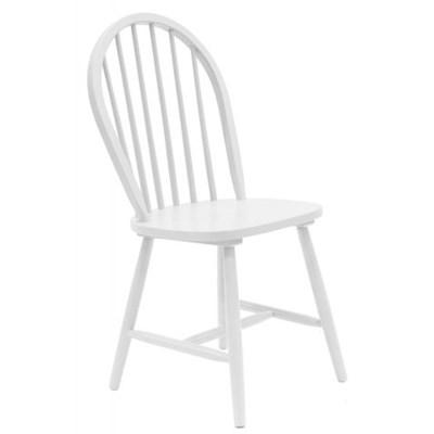 Tenzo Tempo Nowoczesne Białe Krzesło, Biały Lakier Matowy, Drewniane - 3318-001