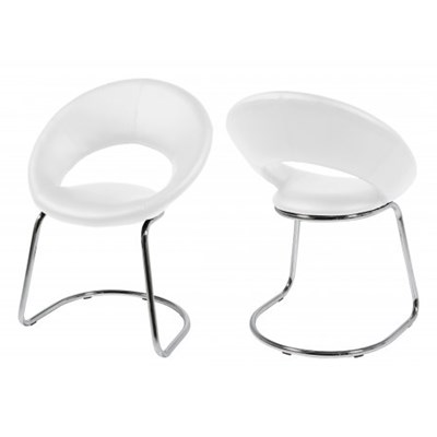 Actona Plump Swing Krzesło Białe Skóra Ekologiczna - 0000049999