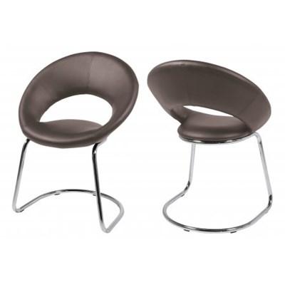 Actona Plump Swing Krzesło Brązowe Skóra Ekologiczna - 0000050884