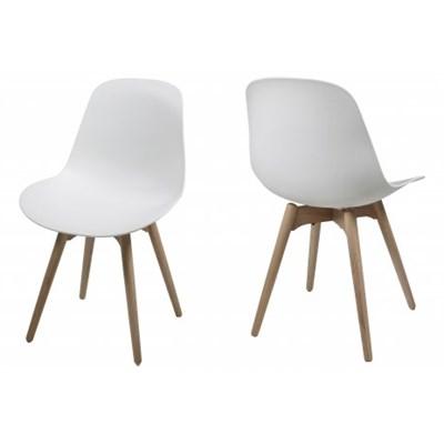 Actona Scramble Białe Krzesło Plastik Drewniane Nogi - 0000052770