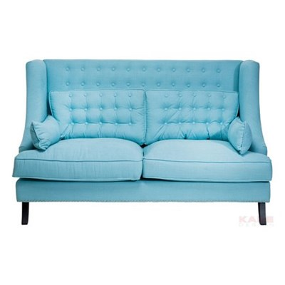 Kare Design Vegas Sofa 2 Osobowa Niebieska 177x107x98cm - 76346
