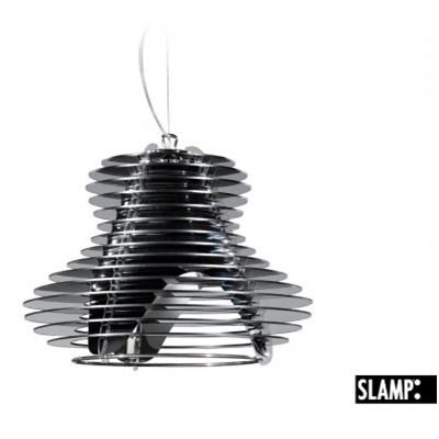 SLAMP Faretto Lampa Wisząca Czarna Pojedyncza 31 cm - FAR14SOS0001N_00