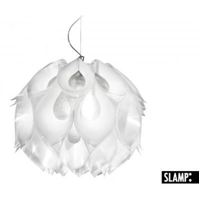 SLAMP Flora Medium Lampa Wisząca Biała 44cm Duża - FLO85SOS0002W_00