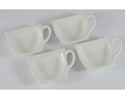 Komplet 4 podkładek na torebki od herbaty DUO BLANCO - rabat 10 zł na pierwsze zakupy!