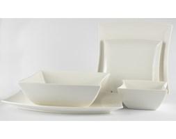Serwis obiadowy DUO WHITE na 6 osób (20 el.) -- biały - rabat 10 zł na pierwsze zakupy!