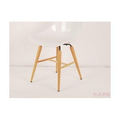 Kare Design Forum Wood Krzeslo Biale, Drewno Bukowe Tworzywo Abs Zelazo - 78933