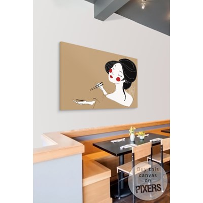 SUSHI Obraz na płótnie 120 x 90 cm