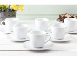Serwis kawowy KWADRAT BIEL na 6 osób (12 el.) - rabat 10 zł na pierwsze zakupy!