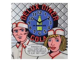 Zegar ścienny 43 x 43 cm NeXtime Delux Diner 8167 - do kupienia: www.superwnetrze.pl
