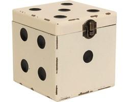 Pojemnik duży Cubic kremowy