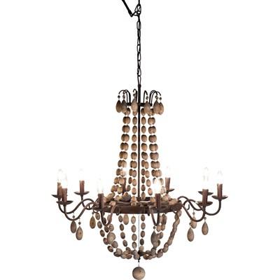 Kare Design Chandelier 10-lite Lampa Wisz�ca �yrandol, �elazo Drewno D�b - 36188