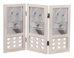 Dekoria Ramka HEART white, stojąca na 3 zdjęcia, 36x25cm