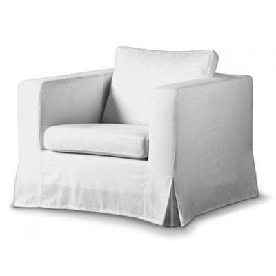 Dekoria Pokrowiec na fotel Karlanda, d�ugi, Old White (kremowa biel), Fotel Karlanda, Cotton Panama