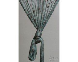 Dekoria Zasłona sznurkowa z węzłami brązowo-turkusowa, 90 x 240 cm