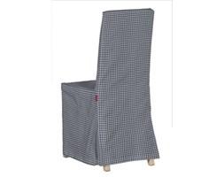 Dekoria Sukienka na krzesło Harry długa, granatowo biała krateczka (0,5x0,5cm), krzesło Harry, Quadro