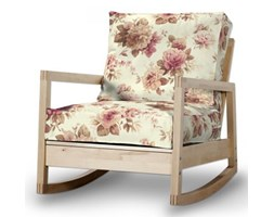 Dekoria Pokrowiec na fotel Lillberg, bordowo-beżowe róze na kremowym tle, Fotel Lillberg, Mirella