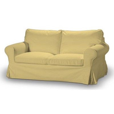 Dekoria Pokrowiec na sofę Ektorp 2-osobową, rozkładaną STARY MODEL, piaskowo-żółty sztruks, Sofa Ektorp 2-osobowa rozkładana, Manchester
