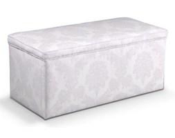 Dekoria Skrzynia tapicerowana, biały, 120x40x40 cm, Damasco