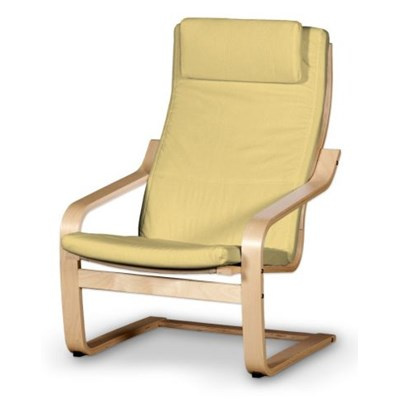 Dekoria Poduszka na fotel Poäng II, piaskowo-żółty sztruks, Fotel Poäng II, Manchester