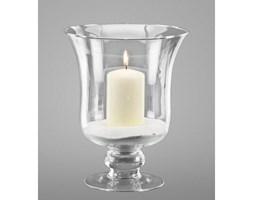 Dekoria Świecznik szklany z piaskiem i świecą 24cm, wys 24cm