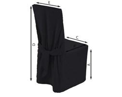 Dekoria Sukienka na krzesło, czarny, 45x94 cm, Etna