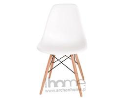 Krzesło Socrates białe, drewniane nogi, archonhome.pl