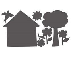 Tablica kredowa Dom i Drzewko