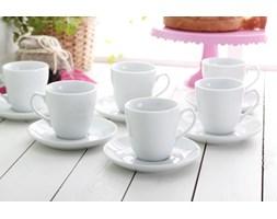 Serwis kawowy BIAŁY na 6 osób (12 el.) -- biały - rabat 10 zł na pierwsze zakupy!